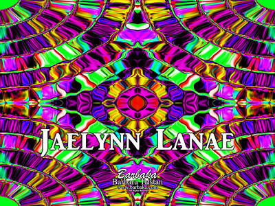 Digital Art - Custom Order Jaelynn Lanae by Barbara Tristan