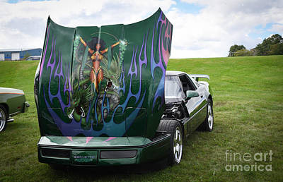 Photograph - Custom Painted Corvette by Grace Grogan