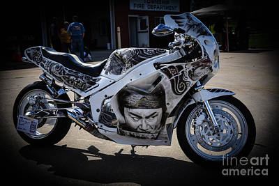 Photograph - Custom Painted Motorcycle by Grace Grogan