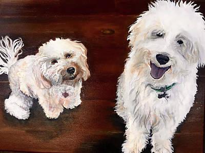 Puppy Painting - Custom Pet Portrait by Fallon Franzen