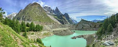 Tour Du Mont Blanc Wall Art - Photograph - Lago Del Miage by Delphimages Photo Creations