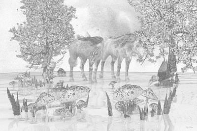 Mushroom Digital Art - Custom Sketch 47 by Betsy Knapp