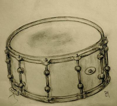 Drawing - Custom Snare by Pete Maier