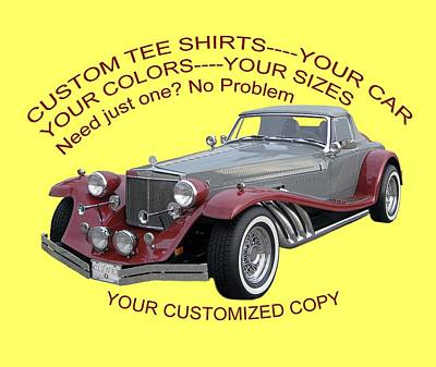 Photograph - Custom Tee Shirts by Jack Pumphrey
