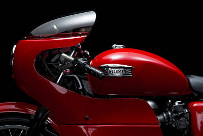 Photograph - Custom Thruxton by Keith May