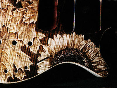 Dumitru Muradian Pyrography - Custom Tim Diebert Guitar - Detail by Dino Muradian
