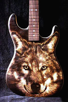 Dumitru Muradian Pyrography - Custom Warmoth Guitar by Dino Muradian