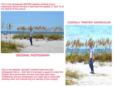 Photograph - Example 5 - Custom Photo-painting by Susan Molnar