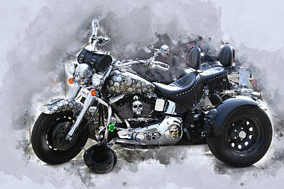 Photograph - Customized Harley Davidson by Anthony Murphy