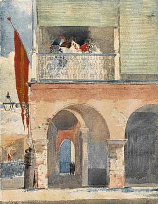 Winslow Homer Drawing - Customs House. Santiago De Cuba by Winslow Homer