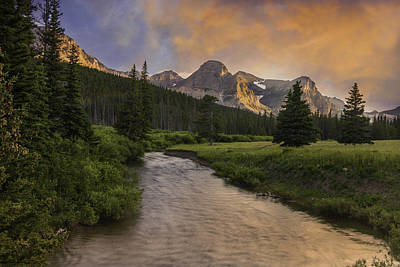 Photograph - Cut Bank Creek At Sunset by Expressive Landscapes Fine Art Photography by Thom