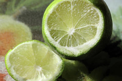 Photograph - Cut Limes by Angela Murdock