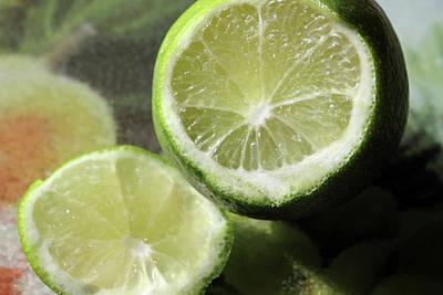 Photograph - Cut Limes by Angela Murdock