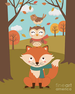 Cute Animal Autumn Original