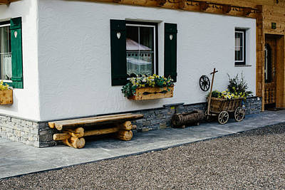 Window Bench Photograph - Cute Austrian Architecture by Pati Photography