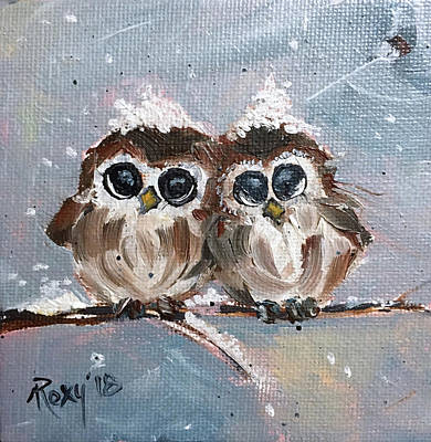 Image Painting - Cute Baby Owls by Roxy Rich