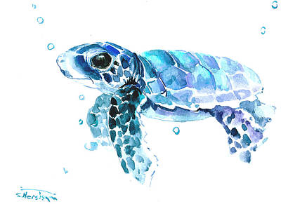 Cute Baby Turtle Art Print