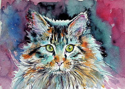 Painting - Cute Big Cat by Kovacs Anna Brigitta