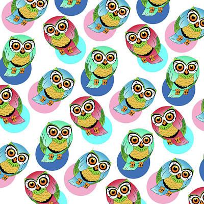 Cute Birds 2 Art Print by Mark Ashkenazi