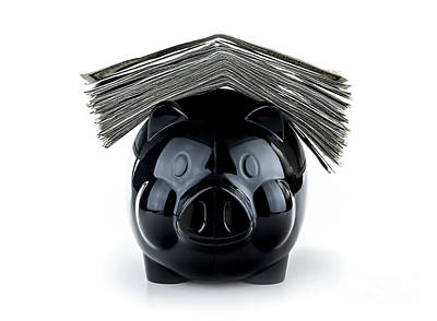 Photograph - Cute Black Piggybank by Anna Om