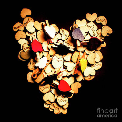 Black Background Photograph - Cute Button Love by Jorgo Photography - Wall Art Gallery