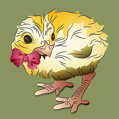 Digital Art - Cute Chick by MM Anderson
