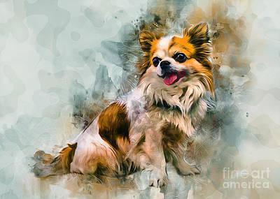 Mixed Media -  Cute Chihuahua  by Ian Mitchell