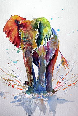 Cute Colorful Elephant Art Print