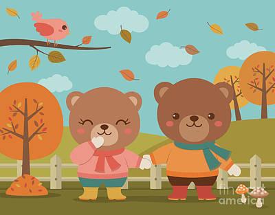 Cute Couple Of Bears Original