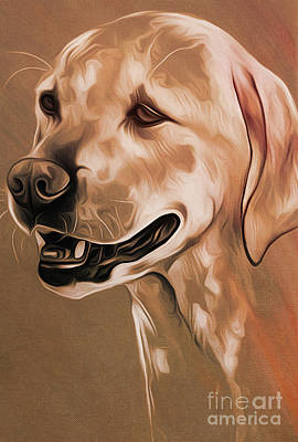 Chin Up Painting - Cute Dog  by Gull G
