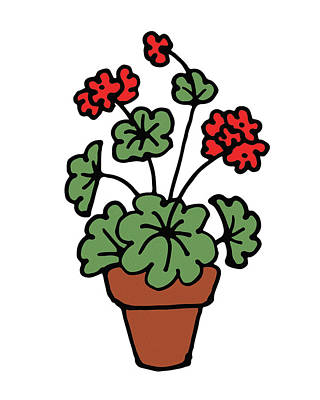 Digital Art - Cute Geranium Plant by Irina Sztukowski