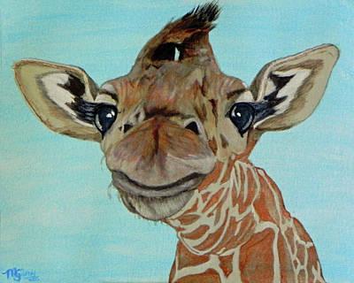 Cute Giraffe Baby Original by M Gilroy