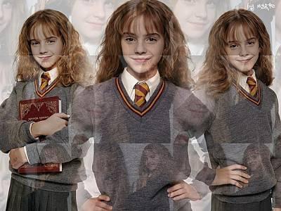 Hermione Granger Digital Art - Cute Hermione Granger by F S