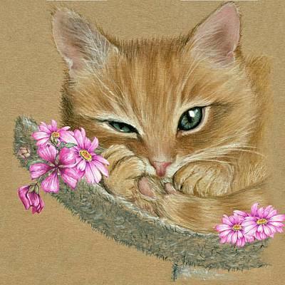 Mixed Media - Cute Kitty by Heidi Kriel