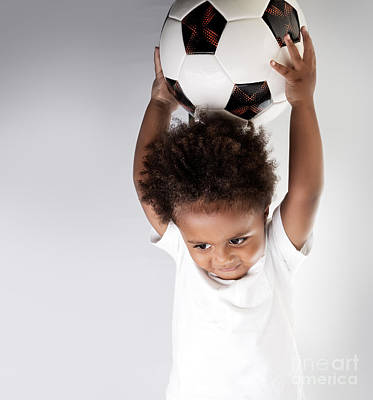 Photograph - Cute Little Goalkeeper by Anna Om