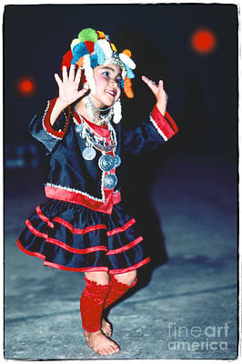 Photograph - Cute Little Thai Girl Dancing by Heiko Koehrer-Wagner