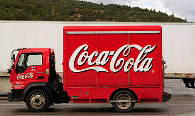 Photograph - Cute Mini Coca Cola Truck by Tikvah's Hope
