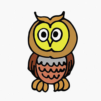 Digital Art - Cute Owl For Kids by Irina Sztukowski