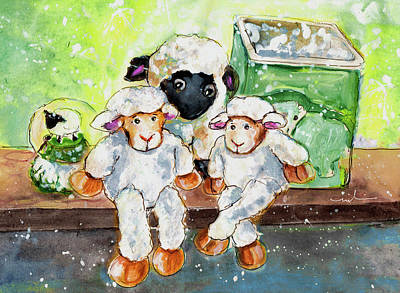 Painting - Cute Sheep In Reeth by Miki De Goodaboom