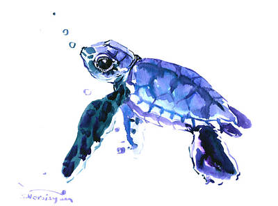 Cute Turtle Art Print