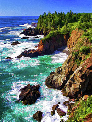 Downeast Maine Photograph - Cutler Coast Whitewater by ABeautifulSky Photography by Bill Caldwell