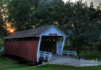 Photograph - Cutler/ Donahoe Covered Bridge by Thomas Danilovich