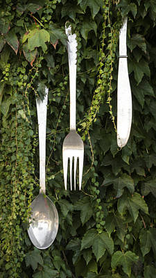 Photograph - Cutlery by Silvia Bruno