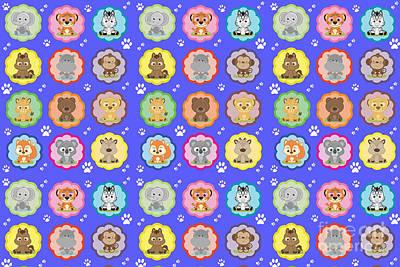 Hippopotamus Digital Art - Cuttable Pets by Naviblue