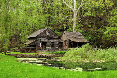 Photograph - Cuttalossa Farm Mill In Springtime by Elsa Marie Santoro