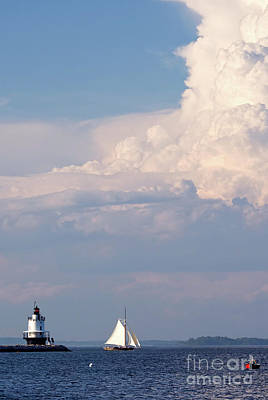 Photograph - Cutter And Spring Point Ledge Light, So. Portland, Maine #40261 by John Bald