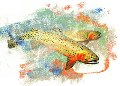 Cutthroat Trout Original by Janice Lawrence