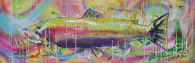 Cutthroat Trout Art Print by Kevin King