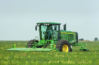 Copy Machine Photograph - Cutting Alfalfa by Todd Klassy