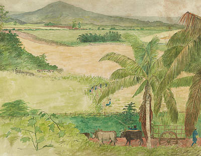 Painting - Cutting Cane, Jamaica by William Berryman